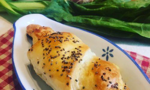 Cornetti di sfoglia verdure e Asiago
