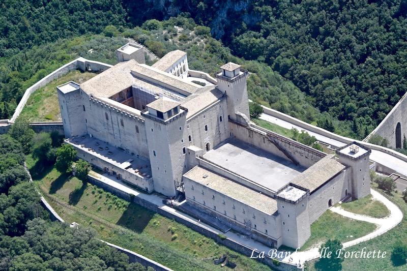 Avioturismo Umbria Rocca Albornonziana Spoleto