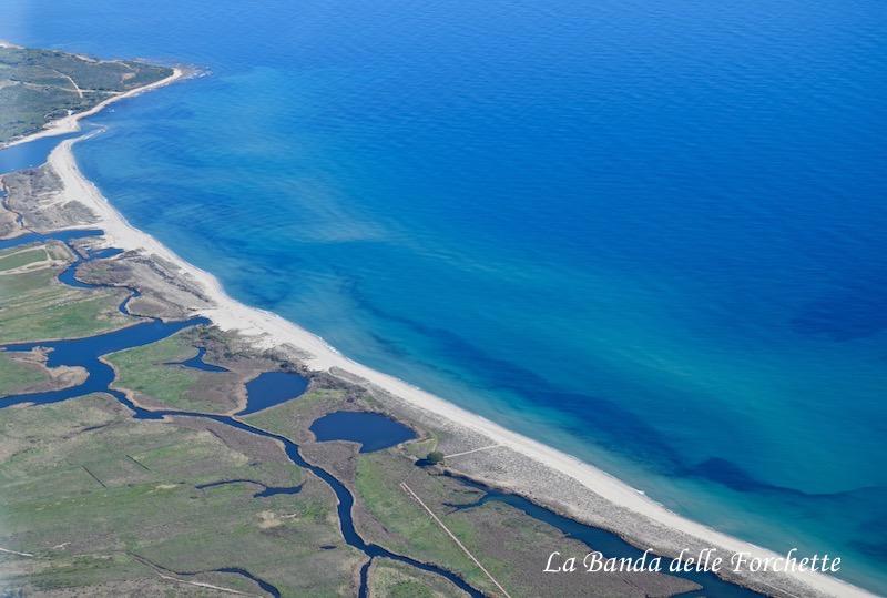Avioturismo Sardegna Spiagga di Iscralos Posada