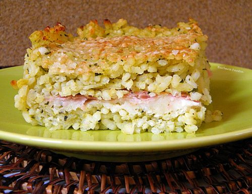 Tortino di riso con zucchine, ricetta primi piatti