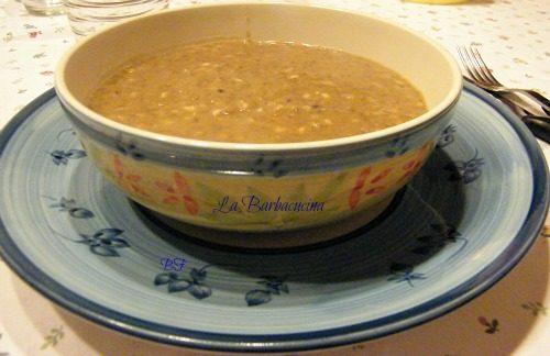 Crema di lenticchie con farro, ricetta zuppe e minestre