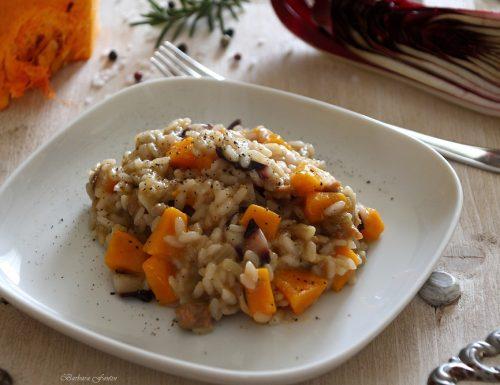 Risotto radicchio, salsiccia,zucca, ricetta primi piatti
