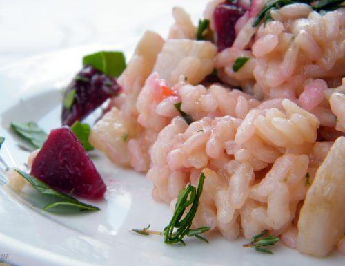 Risotto con topinambur,rape rosse, carote e spinaci – ricetta vegetariana
