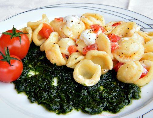Orecchiette con pomodorini, rucola e burrata – ricetta primi piatti