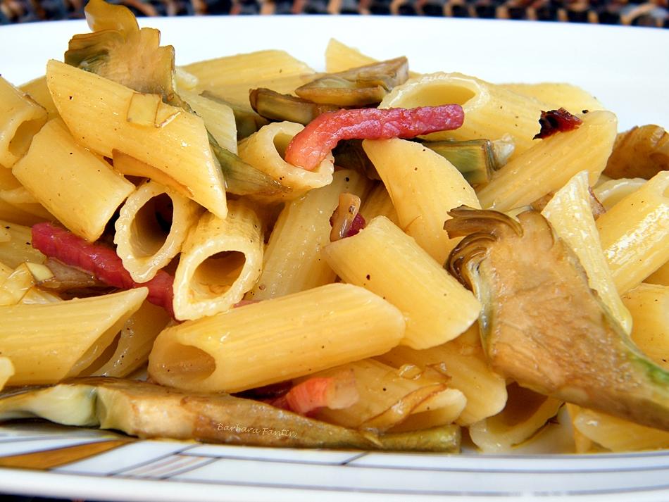 Ricetta pasta con carciofi e speck