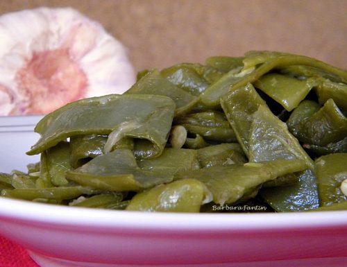 Taccole con aglio e acciughe, ricetta contorni
