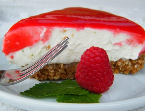Cheesecake Lime Lamponi, ricetta dolce senza forno
