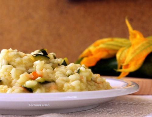 Risotto zucchine, salmone affumicato, ricetta primi piatti