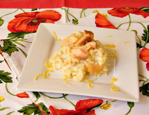 Risotto con trota affumicata profumato al limone,ricetta facile