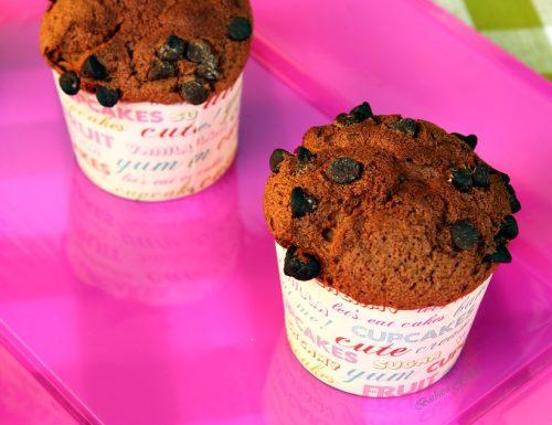Muffins al cioccolato, solo albumi, ricetta dolce