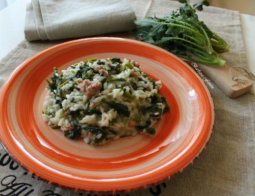 Risotto con broccolo fiolaro e salsiccia, ricetta primi piatti