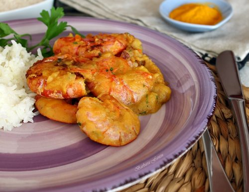 Curry di gamberi in latte di cocco (Kamba)