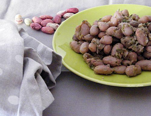 Fagioli in salsa (fasoi) contorno tipico veneto