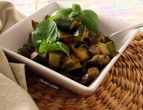 Melanzane, zucchine con basilico e menta