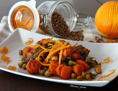 Ceci e carote al coriandolo e arancia, ricetta vegana
