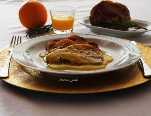 Carrè di maiale con speck e arancia, ricetta secondi
