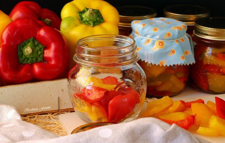 Peperoni agrodolci, ricetta estiva, ricetta conserve
