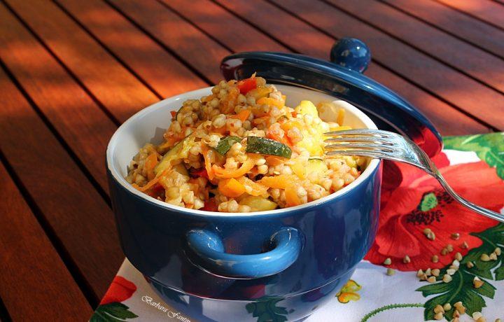 Grano saraceno con verdure spadellate, ricetta gluten free