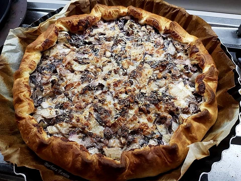 Torta salata pancetta, radicchio, robiola - La Barbacucina