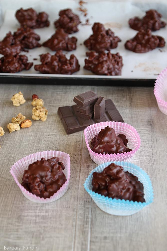 Cioccolatini croccanti ai cereali