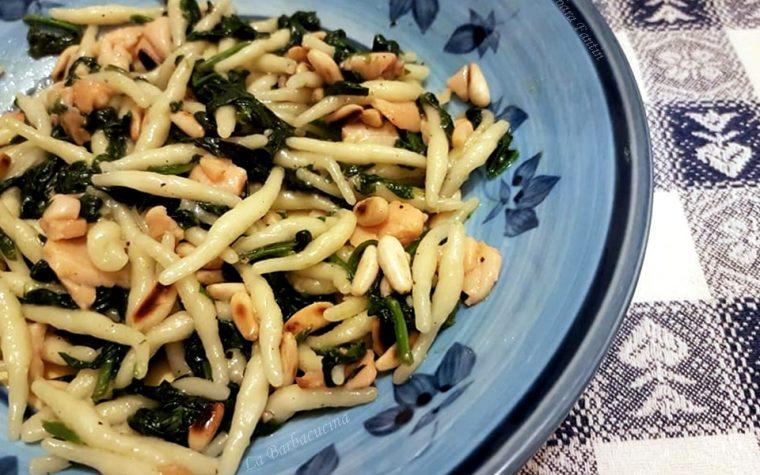 Trofie spinaci, salmone, pinoli