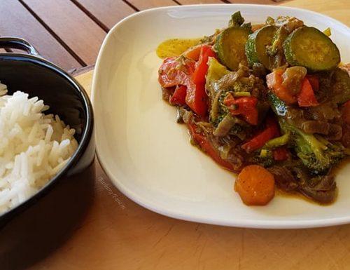 Ratatouille di verdure con masala indiano