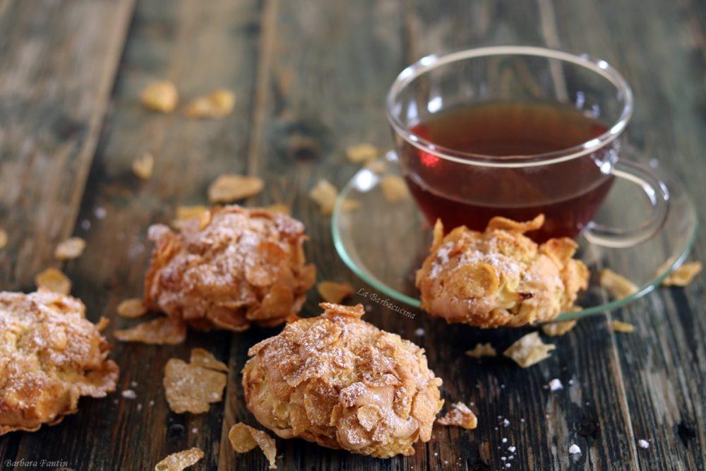 Biscotti con mele e corn flakes - La Barbacucina