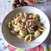 Pasta gorgonzola, speck e noci, ricetta primi piatti