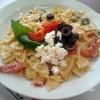 Pasta feta, pomodorini, olive, ricetta primi piatti