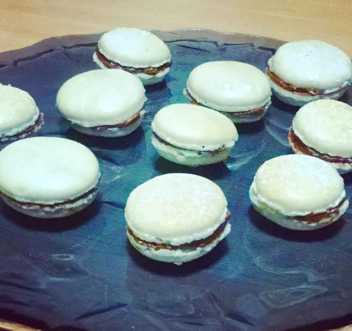 Macaron alla vaniglia e cioccolato