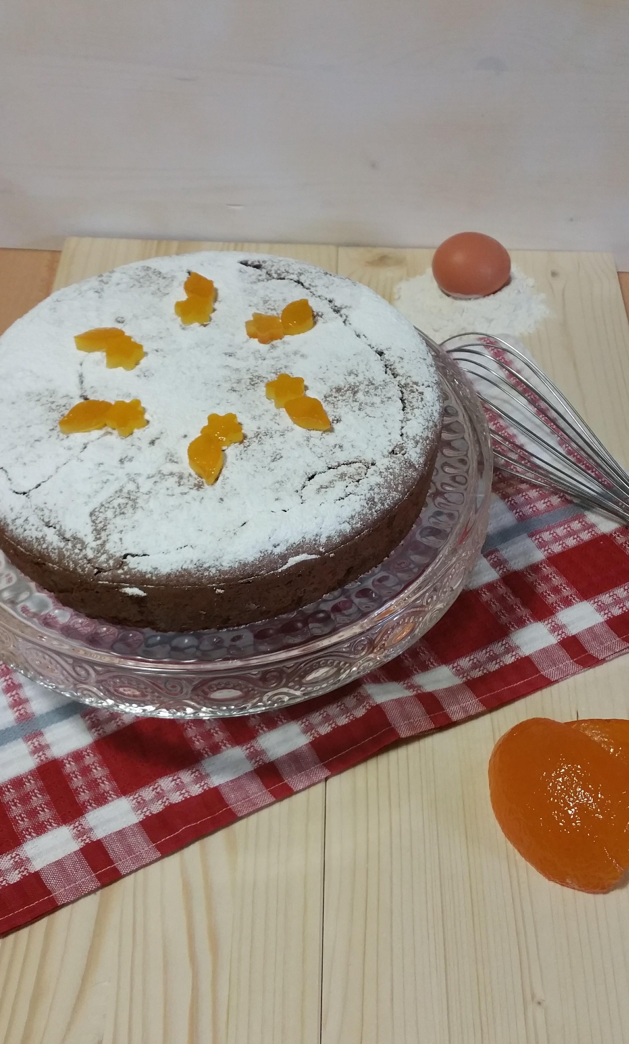 Torta al cioccolato mandorle e arancia