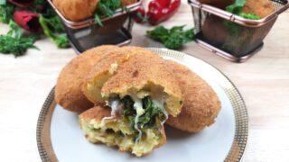 Crocchè con salsiccia e broccoli
