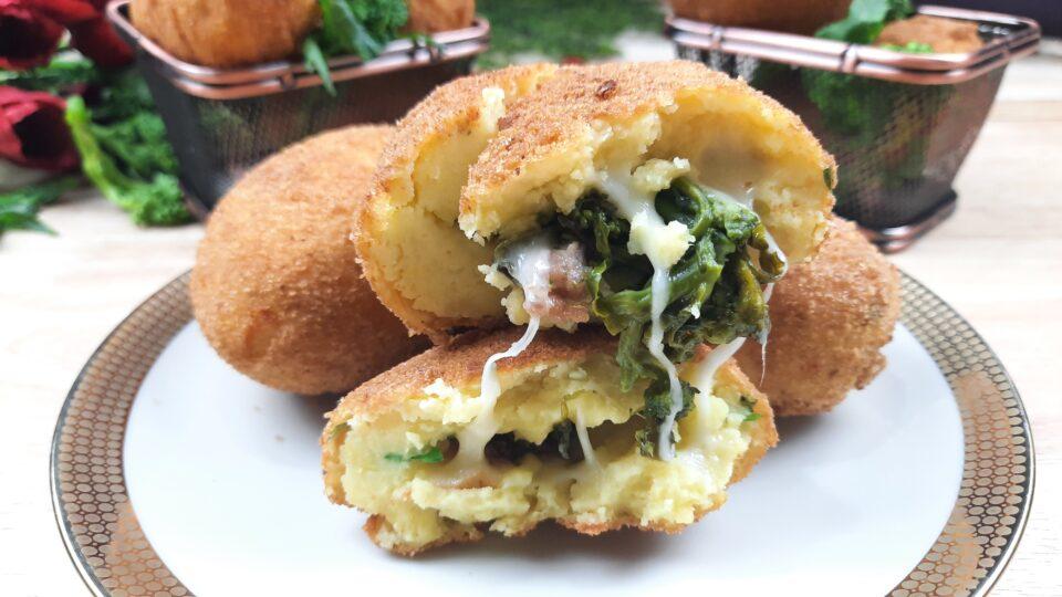 crocchè con broccoli e salsiccia