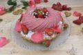 Cheesecake con semifreddo fragola e cocco