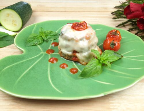 Mini parmigiana di zucchine