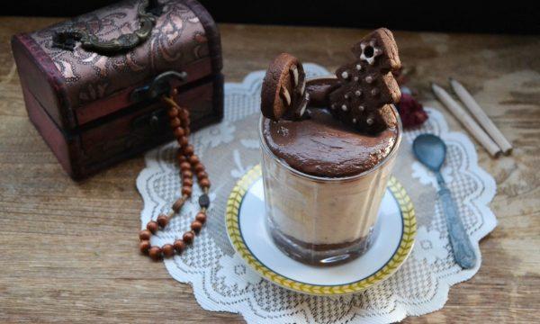Bicchieri alla banana e cioccolato