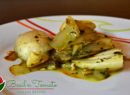 Indivia cotta all'aglio e prezzemolo