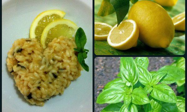 Risotto al limone e basilico