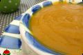 Zuppa di zucca gialla e patata dolce