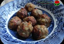 Polpette di carne e peperoni