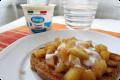 Pane tostato con mela alla cannella - Idee per colazione