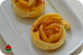 Rose di mela e pasta sfoglia