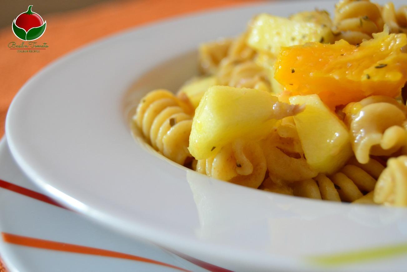 Insalata di pasta con la frutta - Ricetta Spagnola