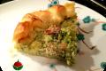 Torta salata con broccoli e bacon