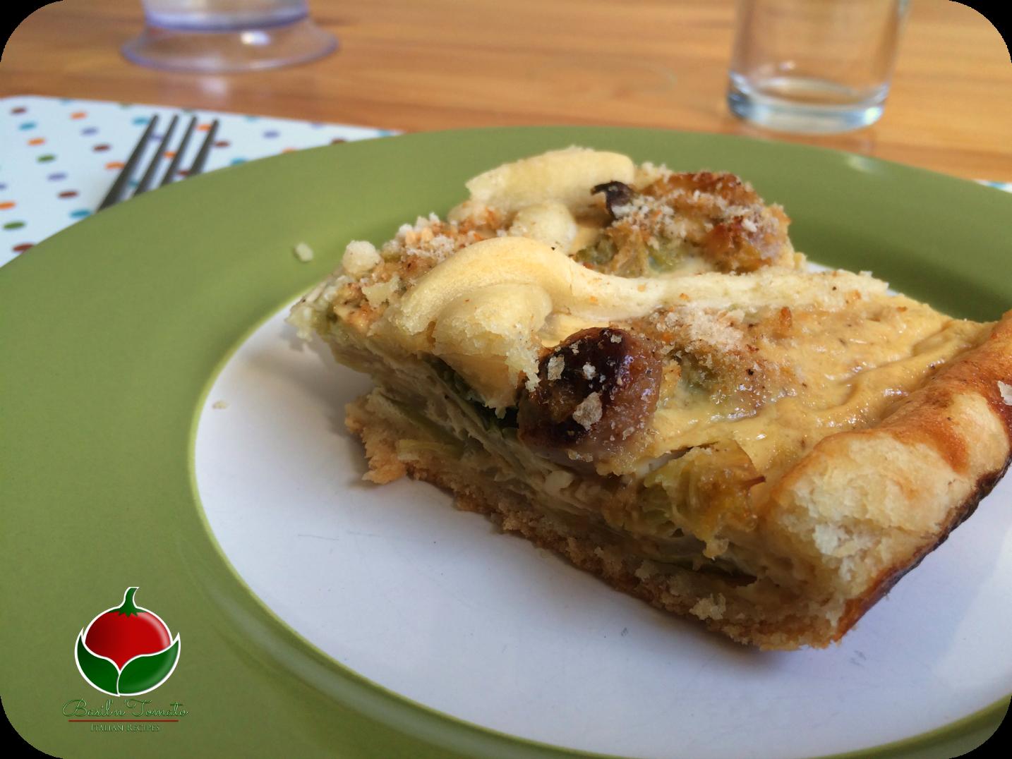 Torta salata con salsiccia cavolo e formaggio basil - Come cucinare salsiccia ...