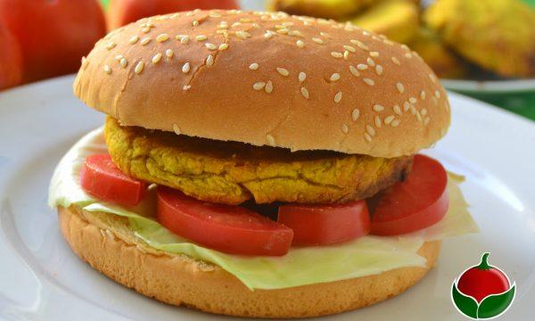 Hamburger di ceci e verdure senza uova