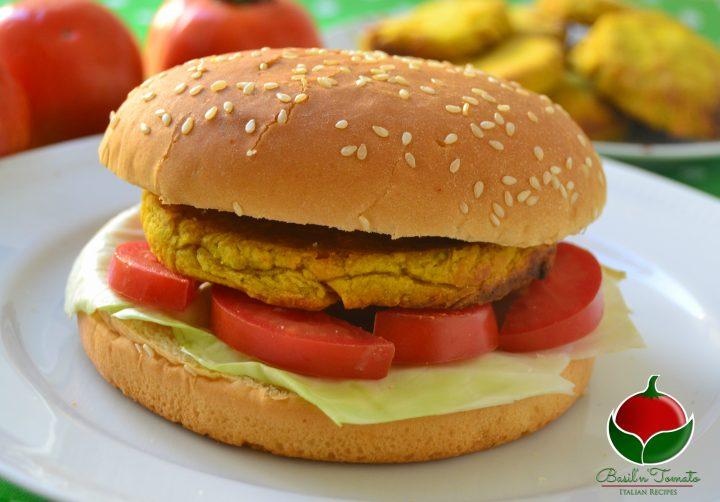 Hamburger di ceci e verdure