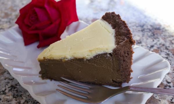 Torta mocaccina – caffe, cioccolato bianco e fondente
