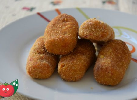 Crocchette di patate e peperoni al forno