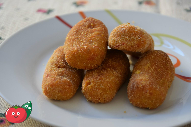 crocchette di patate e peperoni